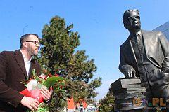 Skoczów - odsłonięcie pomnika prof. Józefa Pietera