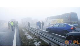 Zdjęcia z karambolu w  Międzyświeciu (trasa Skoczów-Cieszyn)