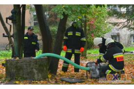 Górki Wielkie - ćwiczenia strażackie