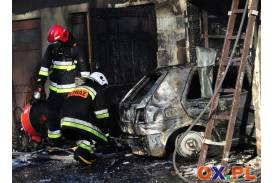 Pożar w Cieszynie w rejonie ul. Tomanka