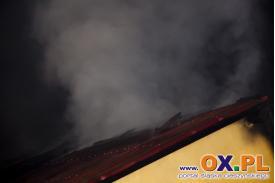 Pożar domu w Krasnej