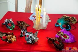 Wystawa masek weneckich autorstwa  Iwony Bzowskiej-Olas