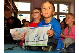 Testy Kajetanowicza w w Rudniku i wizyta w szkole w Rudniku