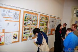 Wernisaż wystawy w galerii \''Przystanek Grafika\''...