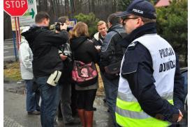 Protest w sprawie likwidacji połączeń w Ustroniu Nierodzimiu