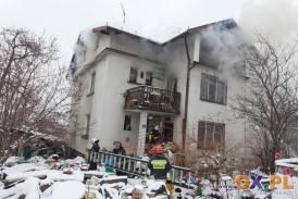 Pożar domu w Dzięgielowie