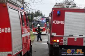 Pożar stolarni w Goleszowie