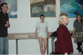 Performance Anny Biernackiej \'\'Milczenie\'\'