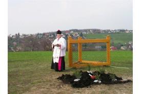 Posadzenie \''Papieskiego dębu\'' na Kaplicówce