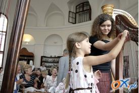 Herbatka z harfą w Cieszynie