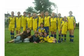 Turniej piłki nożnej dziewcząt w Bąkowie