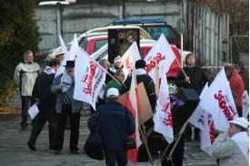 Akcja protestacyjna w Skoczowie