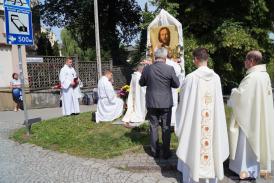 Procesja Bożego Ciała z Kościoła Imienia NMP w Cieszynie...