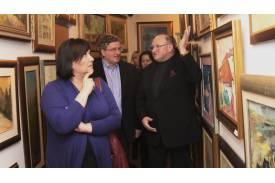 Anna i Bronisław Komorowscy oraz Jan Kukuczka / fot. ze zbiorów Galerii Kukuczka