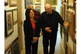 Maria Kaczyńska i Jan Kukuczka / fot. ze zbiorów Galerii Kukuczka