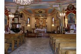 Fot. Wnętrze kościoła pw. Michała Archanioła w Kończycach Wielkich/archiwum UG Hażlach