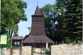 Fot. Drewniany kościół pw. św. Rocha w Zamarskach/archiwum UG Hażlach