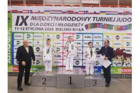 Fabian Harazim z brązowym medalem, fot. KS Cieszyn Judo