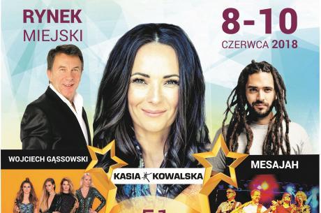 Kasia Kowalska, Wojciech Gąssowski oraz  Mesajah będą gwiazdami 51. Dni Skoczowa