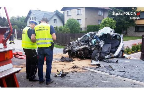 Okoliczności wypadku wyjaśnia cieszyńska policja. Fot: KPP w Cieszynie