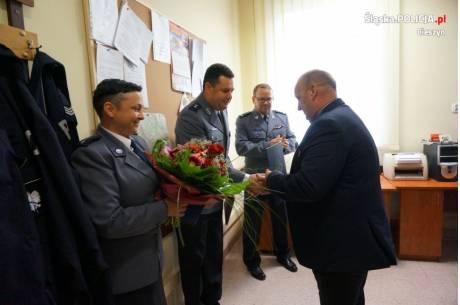 Tomasz Domagała jest Komendantem Komisariatu Policji w Wiśle, natomiast asp.szt. Ilona Oleszczuk jest jego Zastępcą. Fot: KPP w Cieszynie