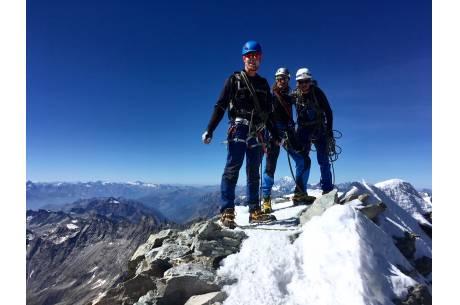 Na szczycie góry. Fot: UM Wisła