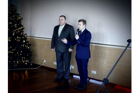 Zastępca burmistrza Andrzej Bubnicki i starosta Hradka Robert Borski /fot. KR