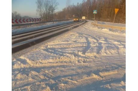 Fragment drogi przed wjazdem do Ogrodzonej / fot. KR