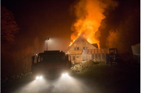 Akcja gaśnicza trwała kilka godzin. Fot. Wojewódzka straż pożarna