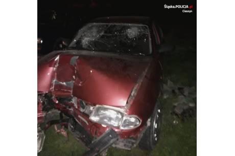 Uszkodzony pojazd. Fot: KPP w Cieszynie