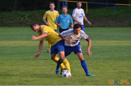Piłkarze Błyskawicy Kończyce Wielkie i Pogórza podzielili się punktami, fot. Piotr Górecki