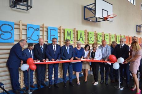 Oficjalne otwarcie nowej sali gimnastycznej w Zaborzu / fot. Gmina Chybie