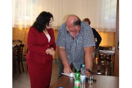 Anna Grygierek i sołtys Bogusław Wawrzyczek / źródło: facebook.com/BurmistrzGrygierek