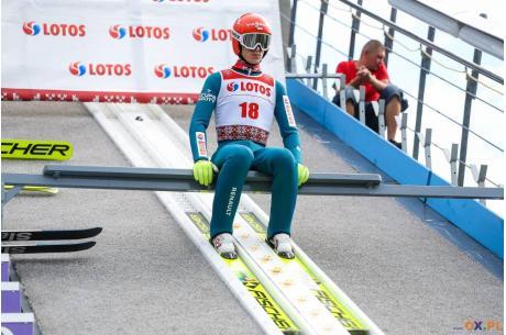 Paweł Wąsek sięgnął po pierwsze punkty w Pucharze Kontynentalnym w tym sezonie, fot. Bartłomiej Kukucz