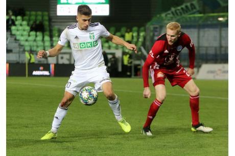 Ondrej Lingr (po lewej) zdobył wyrównującą bramkę, fot. facebook.com/mfkkarvina
