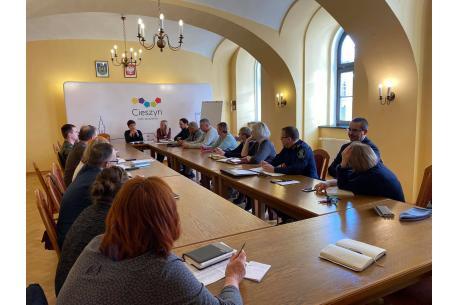 Posiedzenie Miejskiego Zespołu Zarządzania Kryzysowego / fot. Miasto Cieszyn