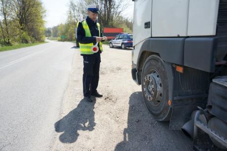 Działania policjantów drogówki fot. Rafał Domagała / KPP Cieszyn
