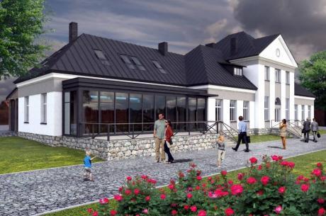 Wizualizacja dworca w Wiśle. Źródło: UM Wisła