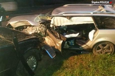 Wypadek w Wiśle. Fot: KPP w Cieszynie