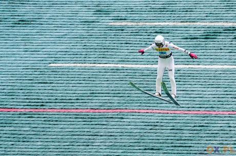 Klemens Murańka zwyciężył w sobotnim konkursie Letniego Pucharu Kontynentalnego, fot. Bartłomiej Kukucz