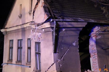 Zawalił się budynek / fot. Marta Szymik