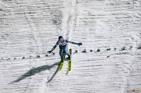 Tomasz Pilch (na zdj.) oraz Kacper Juroszek jeszcze nie wywalczyli punktów w Pucharze Kontynentalnym w tym sezonie, fot. Bartłomiej Kukucz