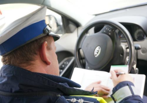 Działania policjantów drogówki fot. Rafał Domagała