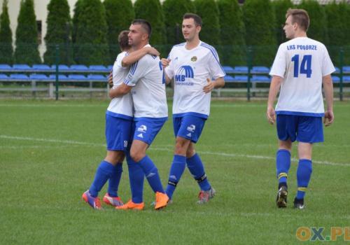 Piłkarze Pogórza zdobyli aż dziewięć bramek w spotkaniu z Dębowcem, fot. Piotr Górecki