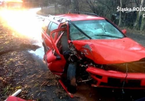 Uszkodzenia pojazdu były poważne. Fot: arc. KPP w Cieszynie