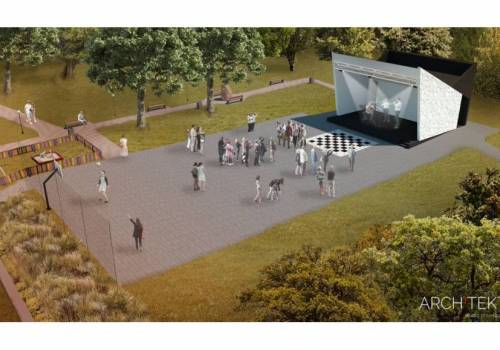 Dzięki dotacji zostanie zakupione nowe nagłośnienie oraz składane ławki do amfiteatru / fot. arc.ox.pl