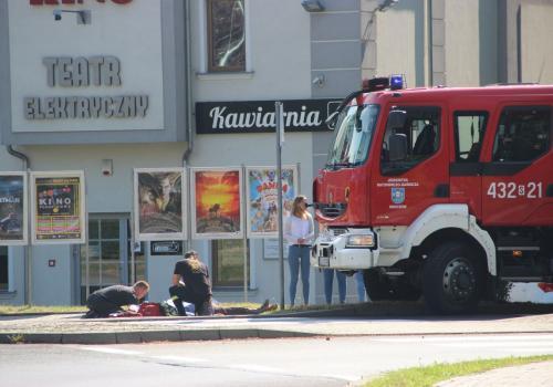 Skoczów: Strażacy udzielili pierwszej pomocy / fot. MSZ