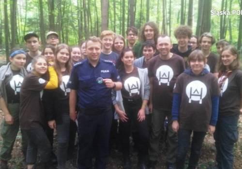 fot.: spotkanie z harcerzami w Ustroniu/ KPP w Cieszynie