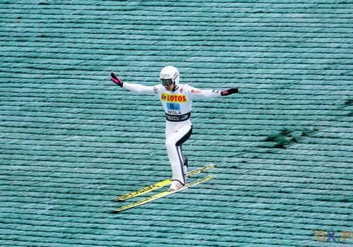 Klemens Murańka zajął drugie miejsce w niedzielnym konkursie Letniego Pucharu Kontynentalnego w Stams, fot. Bartłomiej Kukucz