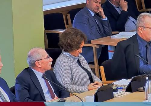 Christian Jaworski (pierwszy od lewej), został odwołany z funkcji członka zarządu. Fot: Screen transmisji na żywo